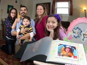 The Riffenburg family. (Photo: Stan Godlewski for USA TODAY)